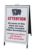 CCTV warning Sign — Stock Photo
