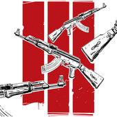 Ak-47 poster — Stock Vector