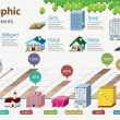 Real Estate Infographic. Building Icon - Stockvectorbeeld