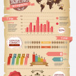 retro infographics — Stock Vector