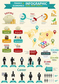 Finance & Economics Infographic — Stock Vector