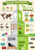 ECO & green concept infographic — Stock Vector