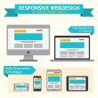 Responsive Web Design — Vector de stock #26065875