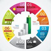 Modern Design Business Infographics Template — Stock Vector