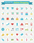 Flat Icon -- Online Shopping — Stock Vector