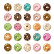 colorful donuts — Stock Vector