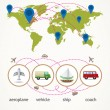 Travel and Transport Infographics — Stock Vector