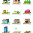 Vector Building Icon -- 3D Illustration — Stock Vector