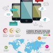 Beautiful Smartphone Infographic. Modern infographics set and icons IT tehnology. — Stock Vector