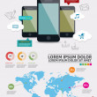 Beautiful Smartphone Infographic. Modern infographics set and icons IT tehnology. — Stock Vector #26615379