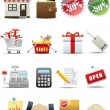 Stock Vector: Vector Shopping and Consumerism Icon Set