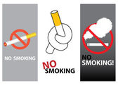 Different style no smoking design — 图库矢量图片