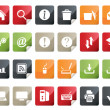 Computer and Internet Icon Set. Tag and Label Style — Stock Vector #26800433