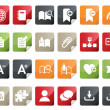 Stock Vector: Internet and Blogs Icon Set. Tag and Label Style
