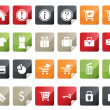 Internet and Online Shopping Icon Set. Tag and Label Style — 图库矢量图片