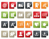Internet and Blogs Icon Set. Tag and Label Style — Stock Vector