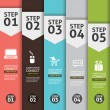 Banner Infographics (Vector Background Number Options Banner, creative design) — Vector de stock