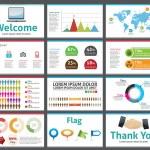 Presentation template - business company slide show design - vector editable — Stock Vector
