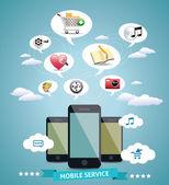 Mobile Service Design Idea — Stock Vector