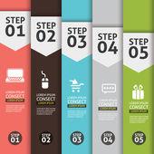Banner Infographics (Vector Background Number Options Banner, creative design) — Stock Vector