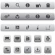Computer and Internet Icon Set. Silver Color. — Stock Vector
