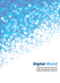 Digital (Blue Pixel) Background — Stock Vector