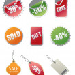Modern Sale Tags - Vector Illustration — Stock Vector