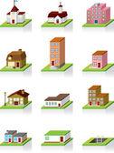 Vector 3D House Vector Icon — Stock Vector