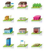 Vecteur 3d maison vector icon — Vecteur