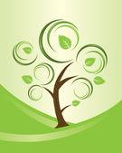 Abstrakte swirly Baum — Stockvektor