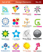 Set of 20 Logo Elements — Stock Vector