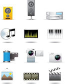 Photo, Video and Film Icons — Stock Vector