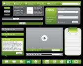 Web site navigation templates — Stock Vector
