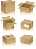 Cardboard Boxes — Stock Vector