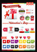 Love Infographics — Stock Vector