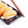 Sushi with white background — Stock Photo