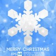 Snow fake christmas greeting card. Vector EPS 10 . Polygonal Ill — Stock Vector
