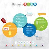 Modern business circle - business pan — Stock Vector