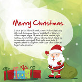 Santa and Christmas message — Stock Vector