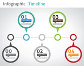 Infographic timeline — Stock Vector