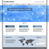 Web Design Website Elements Template — Stock Vector