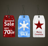 Christmas Sale Tags Design — Stock Vector