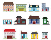 Vector real estate icons — Stock Vector