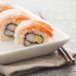 Japanese Sushi -- Sweet Shrimp Roll — Stock Photo