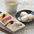 Japanese Sushi and Sashimi -- Egg, Tuna, Eel, Swordfish, Jumbo S — Foto Stock