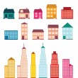 Stock Vector: Set of icons of houses.