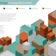 Abstract web design - vector - wallpaper background  — Vettoriali Stock