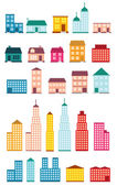 Set of icons of houses. — Stock Vector