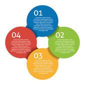 Four steps process - design element. Vector. — Stock Vector