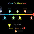 Colorful Flat Arrow Timeline Template - EPS10 Vector Illustratio — Stockvector